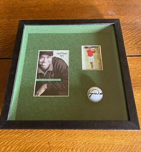 """Tiger Woods Autographed Nike Golf Ball Framed with Photo and Card 13""""x13"""" PSA"""