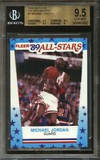 1989 Fleer Sticker MICHAEL JORDAN #3 Bulls BGS 9.5 Gem Mint
