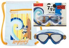 Disney Store Mickey Mouse Swim Backpack + Swimming Mickey Goggles- NWT