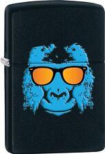 Zippo 2015 Catalog Blue Gorilla With Sunglasses Black Matte Finish Lighter 28861