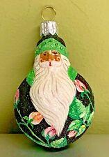 Patricia Breen Mini Santa Du Monde Rosebuds Black Glass 2004 #2427 Neiman