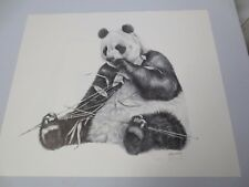 "Vtg Gary Crouch Lithograph Limited Edition ""Giant Panda"" Pencil Signed COA"