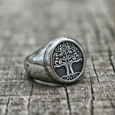 Tree Of Life Design Unisex Adult Ring Classic Viking Amulet Ring Stainless Steel