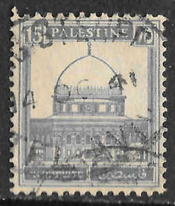 Palestine stamp blue 15 - posted 14th October 1941 - see scan