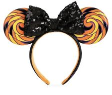 *NEW 2020 Minnie Mouse Ear Ears Headband with Sequined Bow Halloween Candy