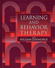 NEW Learning and Behavior Therapy by William T. O'Donohue