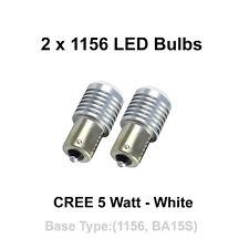 2 x 1156 (BA15S) CREE 5 Watt - White - Tail Brake Turn Signal Rear Bulb
