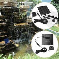 Solar Panel Water Pump Kit Fountain Pool Garden Pond Submersible fu