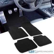 99-05 BMW E46 3-Series Front+Rear Black Soft Cotton Carpet Floor Mats Set 4PC