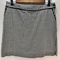 EP Pro Women's Golf Tennis Skirt Skort Black and White Houndstooth Size 8