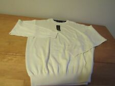 Tommy Hilfiger NWPT'S Golf Men's LG Crewneck Long Sleeves Cotton White Sweater