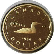 elf Canada 1 Dollar 1990 Proof  Loon  Bird