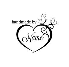PERSONALIZED  CUSTOM MADE NAME RUBBER STAMPS UNMOUNTED H55
