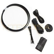 Black Cable Sleeving Kit OKGEAR OK430K  Set of 2