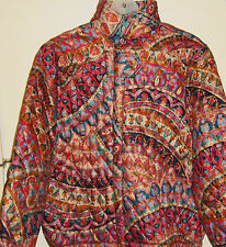NWOT Colorful Quilted Jacket by J.G. DRESSERS Made in USA Size S