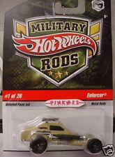 HTF 2009 Hot Wheels Military Rods #1 ENFORCER ☆ Desert Patrol ☆ tan
