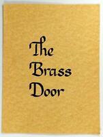 1980's Original Menu THE BRASS DOOR Restaurant Unknown City State