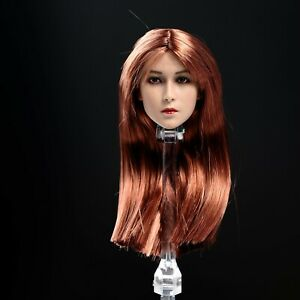 1/6 Scale Female Head Carving Sculpt Custom fit 12'' Phicen JIAOU UD Figure Toy