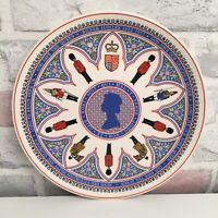 Wedgwood Queen Elizabeth II Silver Jubilee Commemorative Plate National Anthem