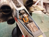 Professionally built Bandai 1/48 X-wing Star fighter Moving Edition
