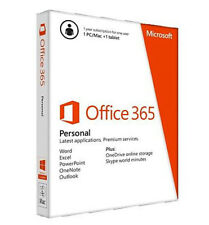 Microsoft Office 365 Personal 1 PC & 1 Tablet 1 User One-Year Subscription