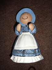 """7.5"""" Tall Statuette Doll of Girl in Blue"""