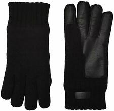 NWT New Men's UGG AUSTRALIA Leather Palm Knit Touchscreen Gloves Black Large XL