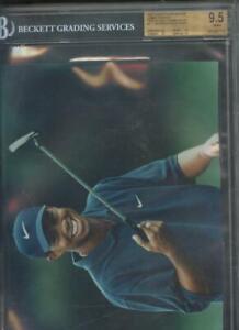 1997 Topps Photos #4 Tiger Woods Golf ROOKIE Card Graded BGS 9.5 GEM Photo 8x10