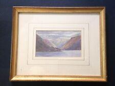 Antique Watercolour Landscape Painting - Wales - Victorian Vintage