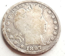 More details for 1897 united states barber quarter dollar coin