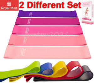 Resistance Band Latex Loop Yoga Gym Home Excercise Training Bands 5 Pieces Set