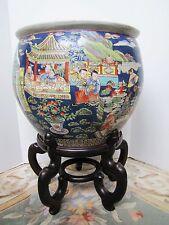 Antique Chinese Tongzhi 同治 1856-1875 Qing Porcelain Fish Bowl.