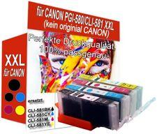 4 Druckerpatronen kompatibel für Canon Pixma PGI-580 CLI-581 XXL Color mit Chip