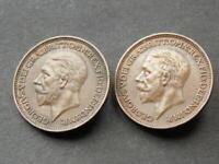 1934 1935 Scarce Vintage Farthings High Grade King George V United Kingdom A