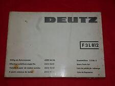 DEUTZ Motor F3 L812 Ersatzteilliste Z 1136-2