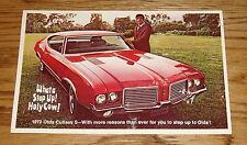 Original 1972 Oldsmobile Cutlass S Large Postcard 72
