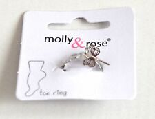 New Silver open heart toe ring with dragonfly charm costume jewellery fashion