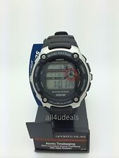 Mens Casio WV200A-1AV Waveceptor Atomic Black Rubber Digital Sport Alarm Watch
