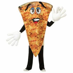 Adult Waving Pizza Mascot Halloween Costume