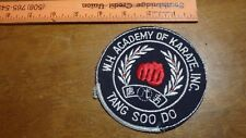 W H ACADEMY OF KARATE TANG SOO DO MARTIAL ARTS    PATCH BX 12 #30