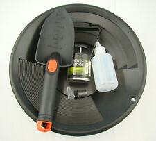 """Gold Panning Mining Kit-Black 12""""Pan-Magnet Pick Up Tool-Scoop-Free Snuffer&Vial"""