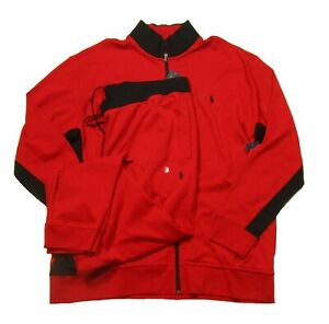 Polo Ralph Lauren Big & Tall Men's Red Double Knit Track Jacket & Pant Set