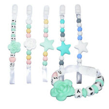 Baby Infant Teething Dummy Clip Pacifier Clips Silicone Necklace Soother Chain T
