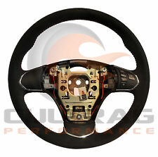 2005-2013 C6 Corvette Genuine GM Suede Manual Steering Wheel Red Stitching