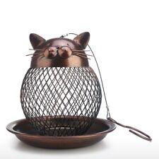 Bird Seed Feeder Hanging Nut Bird Feeder Vintage Cat Shaped for Outdoor Garden