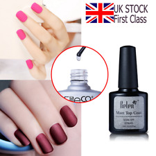 Belen Frosted Effect Matte Top Coat For UV LED Gel Nail Polish Varnish UK