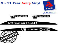 V8 TURBO D4D Bonnet & Pillar Decal Sticker For TOYOTA LANDCRUISER Bonnet Buldge