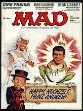 MAD Nr.208 von 1986 - TOP Z0-1 ORIGINAL BSV COMICHEFT Satire Alfred E.Neumann