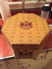 Knox New York Hat Box Empty Octagonal 7 1/8 Vintage