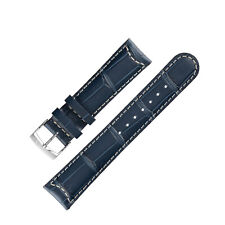 Morellato GUTTUSO Alligator-Embossed Leather Watch Strap in BLUE